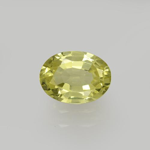 Greenish Yellow Grossularite Garnet Gem - 0.9ct Oval Facet (ID: 504793)