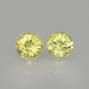 Lemon Grossularite Garnet Gem - 0.5ct Round Facet (ID: 504795)