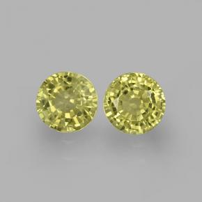Greenish Golden Grossularite Garnet Gem - 0.6ct Round Facet (ID: 504796)