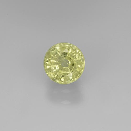 Lemon Grossularite Garnet Gem - 0.7ct Round Facet (ID: 504854)