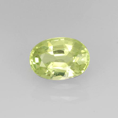 Golden Green Grossularite Garnet Gem - 1ct Oval Facet (ID: 504871)