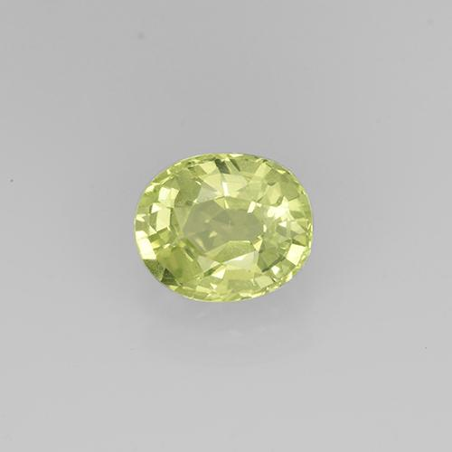 Golden Green Grossularite Garnet Gem - 0.8ct Oval Facet (ID: 504872)