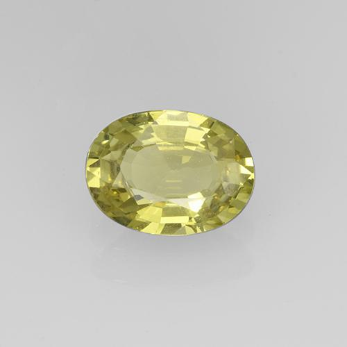 Greenish Golden Grossularite Garnet Gem - 1ct Oval Facet (ID: 504874)