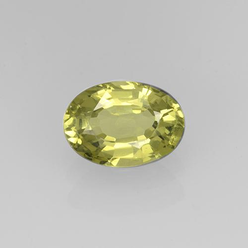 Golden Green Grossularite Garnet Gem - 1ct Oval Facet (ID: 504876)