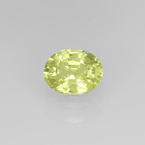 Golden Green Grossularite Garnet Gem - 0.8ct Oval Facet (ID: 504877)