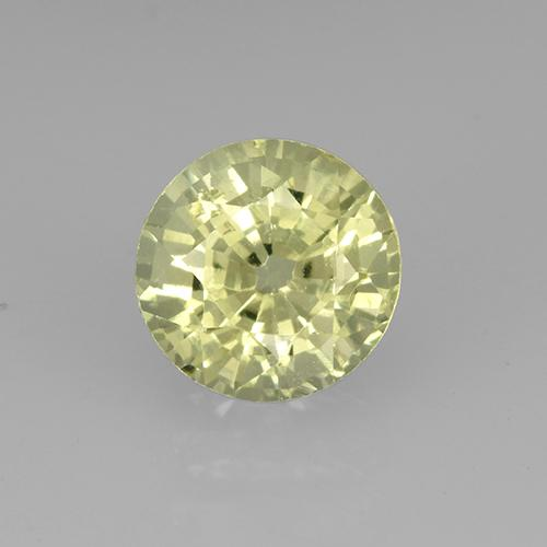 Greenish Golden Grossularite Garnet Gem - 0.8ct Round Facet (ID: 504885)