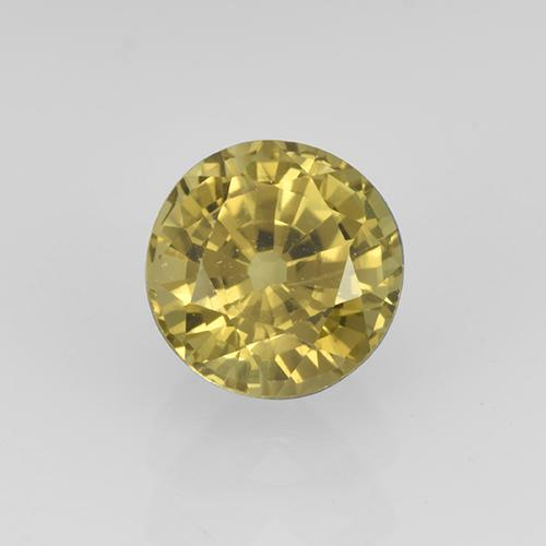 Golden Grossularite Garnet Gem - 0.9ct Round Facet (ID: 504886)