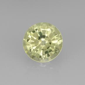 Greenish Yellow Grossularite Garnet Gem - 0.7ct Round Facet (ID: 504888)