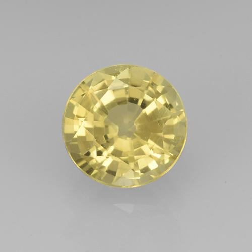 Golden Grossularite Garnet Gem - 0.8ct Round Facet (ID: 504889)