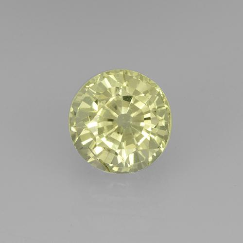 Greenish Yellow Grossularite Garnet Gem - 0.8ct Round Facet (ID: 504892)