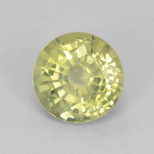 Medium Yellow Grossularite Garnet Gem - 0.7ct Round Facet (ID: 543384)