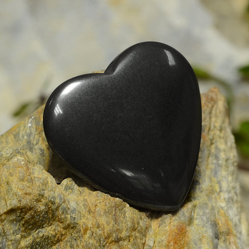 22.81 ct Natural Black Gray Hematite
