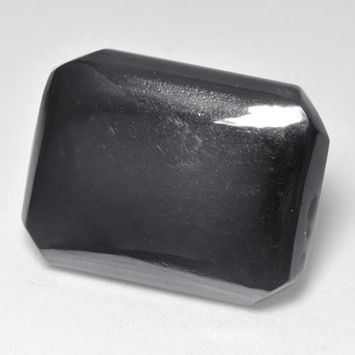 Black Gray Hematite Gem - 24.1ct Octagon Cabochon (ID: 515487)