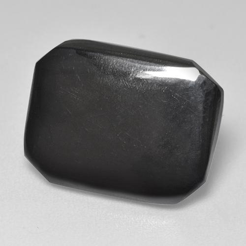 Black Gray Hematite Gem - 9.5ct Octagon Cabochon (ID: 515488)