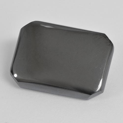 Black Gray Hematite Gem - 17.6ct Octagon Cabochon (ID: 515489)