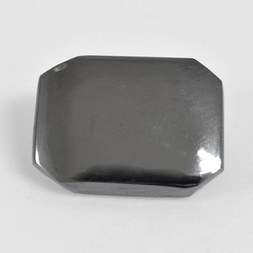 Medium Grey Hematite Gem - 6.9ct Octagon Cabochon (ID: 515490)