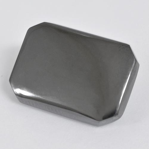 Black Gray Hematite Gem - 20.1ct Octagon Cabochon (ID: 515491)