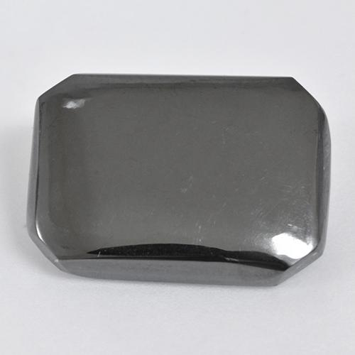 Black Gray Hematite Gem - 19.6ct Octagon Cabochon (ID: 515494)