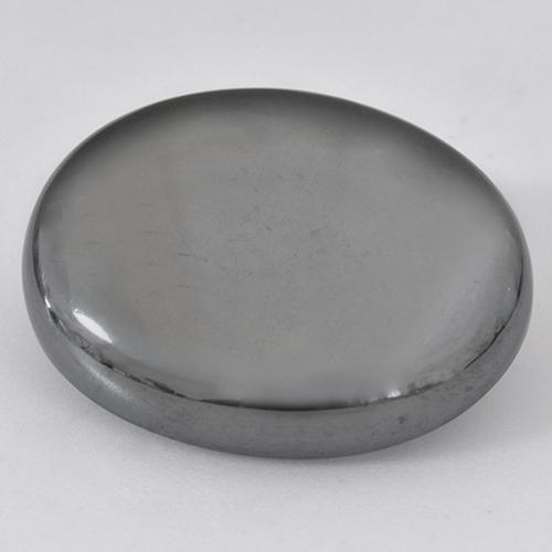 Black Gray Hematite Gem - 33.6ct Oval Cabochon (ID: 517070)