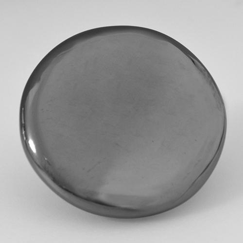 Medium Grey Hematite Gem - 31.8ct Round Cabochon (ID: 517450)