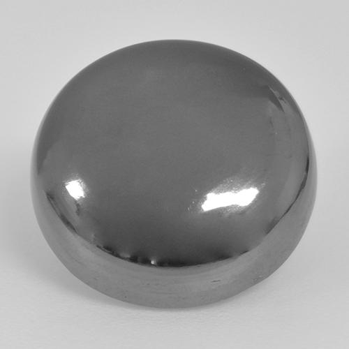 Medium Gray Hematite Gem - 20.7ct Round Cabochon (ID: 517454)