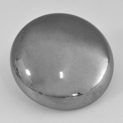 Medium Gray Hematite Gem - 33ct Round Cabochon (ID: 519995)