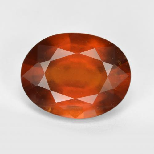 5.6ct Oval Facet Cinnamon Orange Hessonite Garnet Gem (ID: 333365)