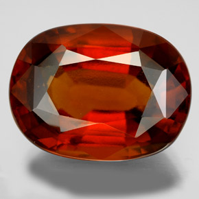Orange Hessonite Garnet 22.8 Carat Oval from Madagascar ...