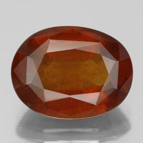 Fire Red Granate Hesonita Gema - 6.2ct Forma ovalada (ID: 333538)
