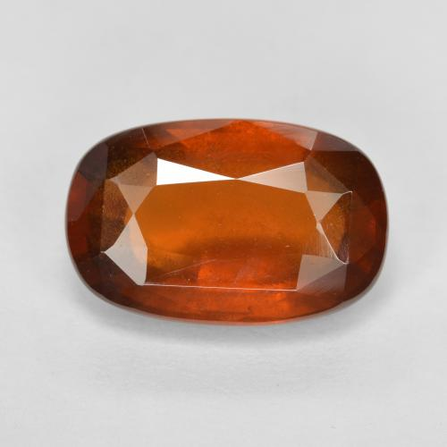 5.9ct Oval Facet Cinnamon Orange Hessonite Garnet Gem (ID: 333539)