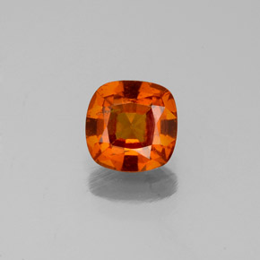 1ct Cushion-Cut Reddish Orange Hessonite Garnet Gem (ID: 333984)