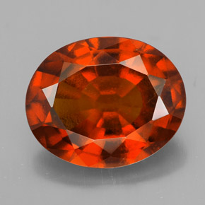 6.4 carat Oval 13.1x10.7mm Natural and Untreated Hessonite ...