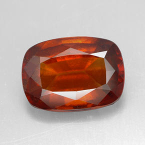 6.61 ct Cushion-Cut Cinnamon Orange Hessonite Garnet Gemstone 13.14 mm x 9.5 mm (Product ID: 334012)