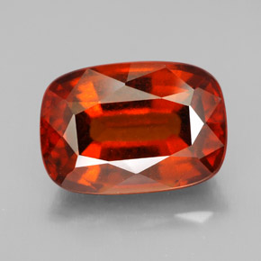 6.5ct Cushion-Cut Cinnamon Orange Hessonite Garnet Gem (ID: 334016)