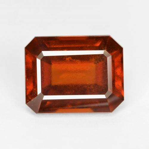 8.89 ct Octagon Facet Deep Orange Hessonite Garnet Gemstone 12.92 mm x 10.2 mm (Product ID: 334045)