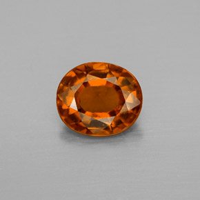 Cinnamon Orange Hessonite Garnet Gem - 1.3ct Oval Facet (ID: 334614)