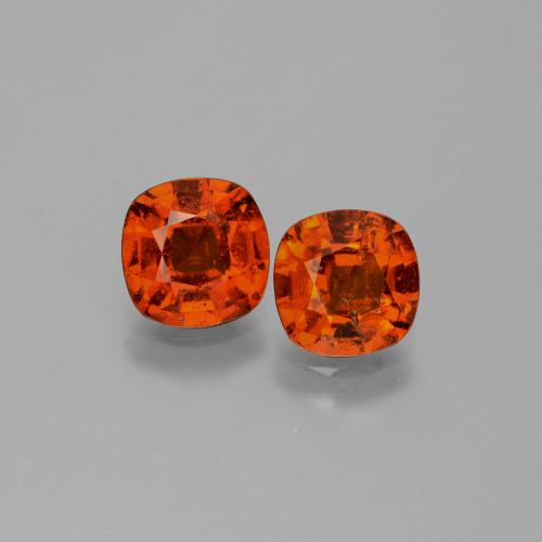 1.6ct Cushion-Cut Medium Orange Hessonite Garnet Gem (ID: 338371)