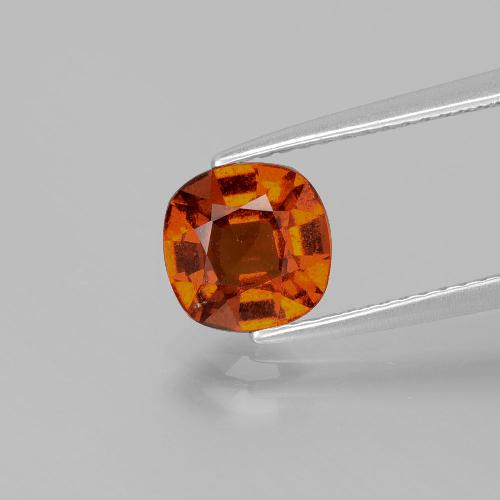 1.5ct Cushion-Cut Reddish Orange Hessonite Garnet Gem (ID: 338540)