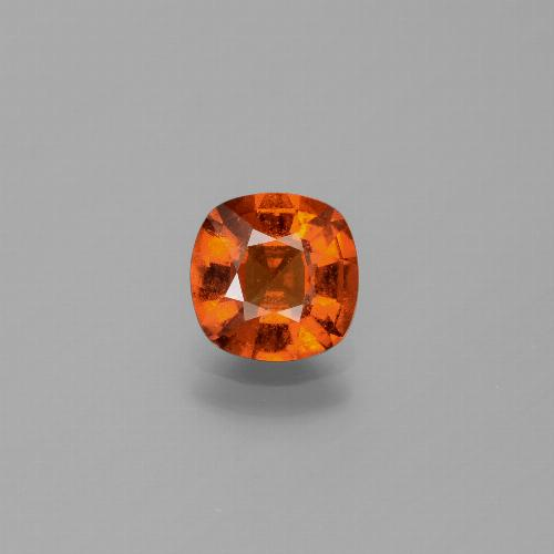 1.6ct Cushion-Cut Amber Orange Hessonite Garnet Gem (ID: 338543)