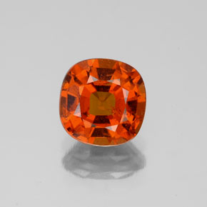 1.7ct Cushion-Cut Medium Orange Hessonite Garnet Gem (ID: 338633)