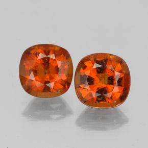 1.6ct Cushion-Cut Medium Orange Hessonite Garnet Gem (ID: 338674)