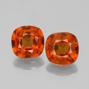 Medium Orange Hessonite Garnet Gem - 1.6ct Cushion-Cut (ID: 338677)
