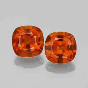1.6ct Cushion-Cut Fire Orange Hessonite Garnet Gem (ID: 338679)