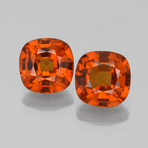 1.6ct Cushion-Cut Cinnamon Orange Hessonite Garnet Gem (ID: 338680)