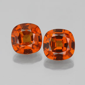 1.5ct Cushion-Cut Medium Orange Hessonite Garnet Gem (ID: 338681)