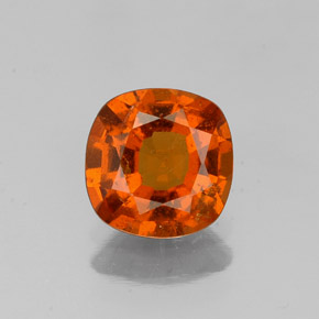 1.2ct Cushion-Cut Reddish Orange Hessonite Garnet Gem (ID: 338684)
