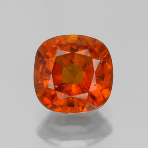 1.7ct Cushion-Cut Fire Orange Hessonite Garnet Gem (ID: 338690)