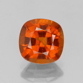 1.8ct Cushion-Cut Fire Orange Hessonite Garnet Gem (ID: 338691)