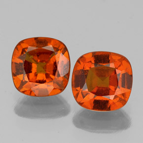 Cinnamon Orange Hessonite Garnet Gem - 1ct Cushion-Cut (ID: 338861)