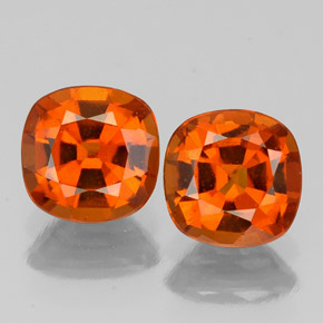 1.1ct Cushion-Cut Reddish Orange Hessonite Garnet Gem (ID: 338862)